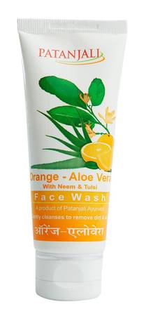 Patanjali Orange Aloevera Face Wash 60 Gm