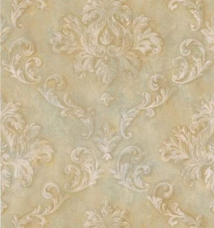 Brewster 174-58886 Beacon House Via Allure Damask Wallpaper, 20.5-Inch By 396-Inch, Neutral