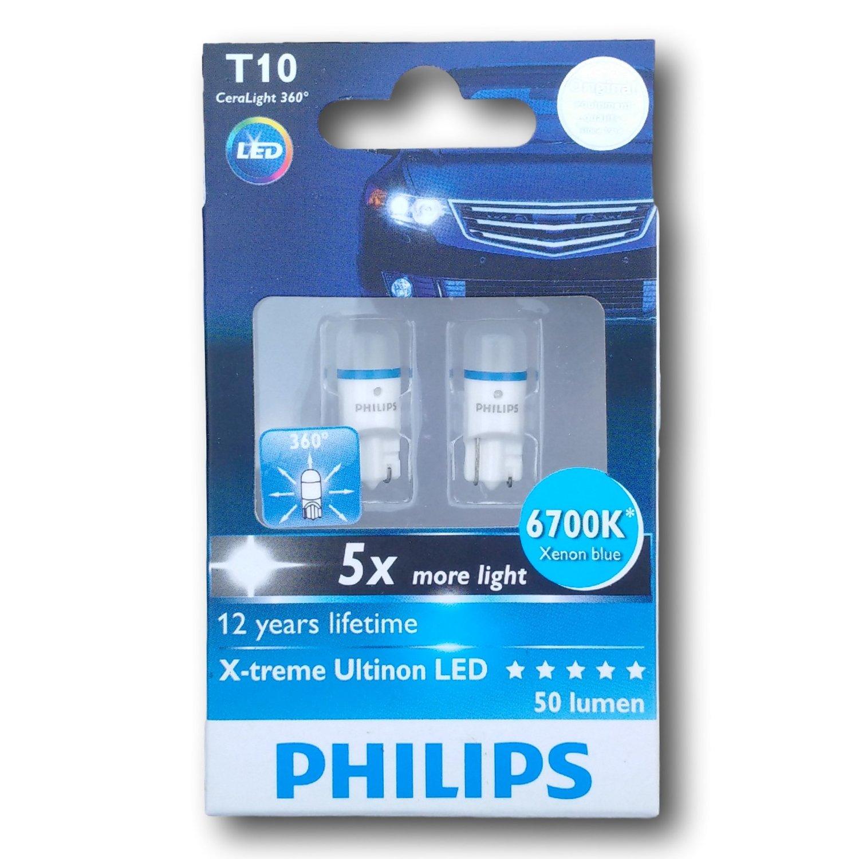 Philips 127996700KX2 X-treme Ultinon LED |T10, 12V, 1W, 6700K, 50lm|