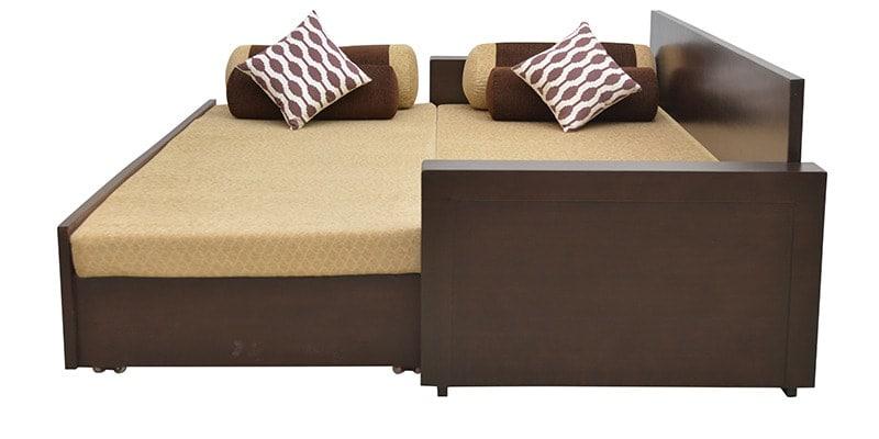 Shine Sofa Cum Bed In Brown Colour