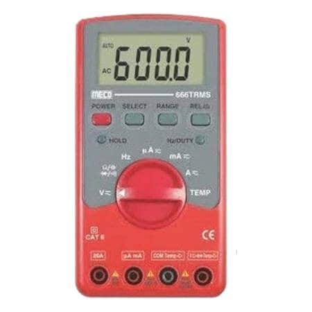 MECO- DIGITAL MULTIMETER (666TRMS) (750V AC) + FREE  CAL. CERTIFICATE ( T/E/DMM/MEC/750/001)