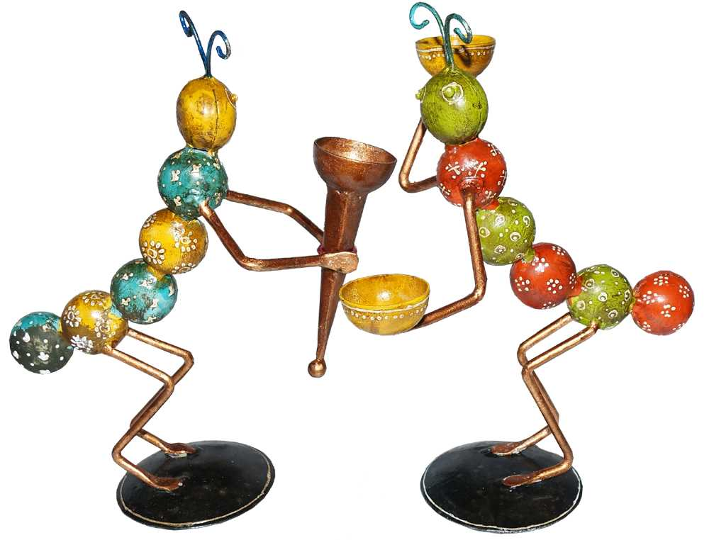Set Of 2 Ant Candle Holders
