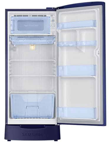Samsung RR20M282YU2/NL Direct Cool Single Door Refrigerator (192 Litres, 4 Star, Star Flower Blue)