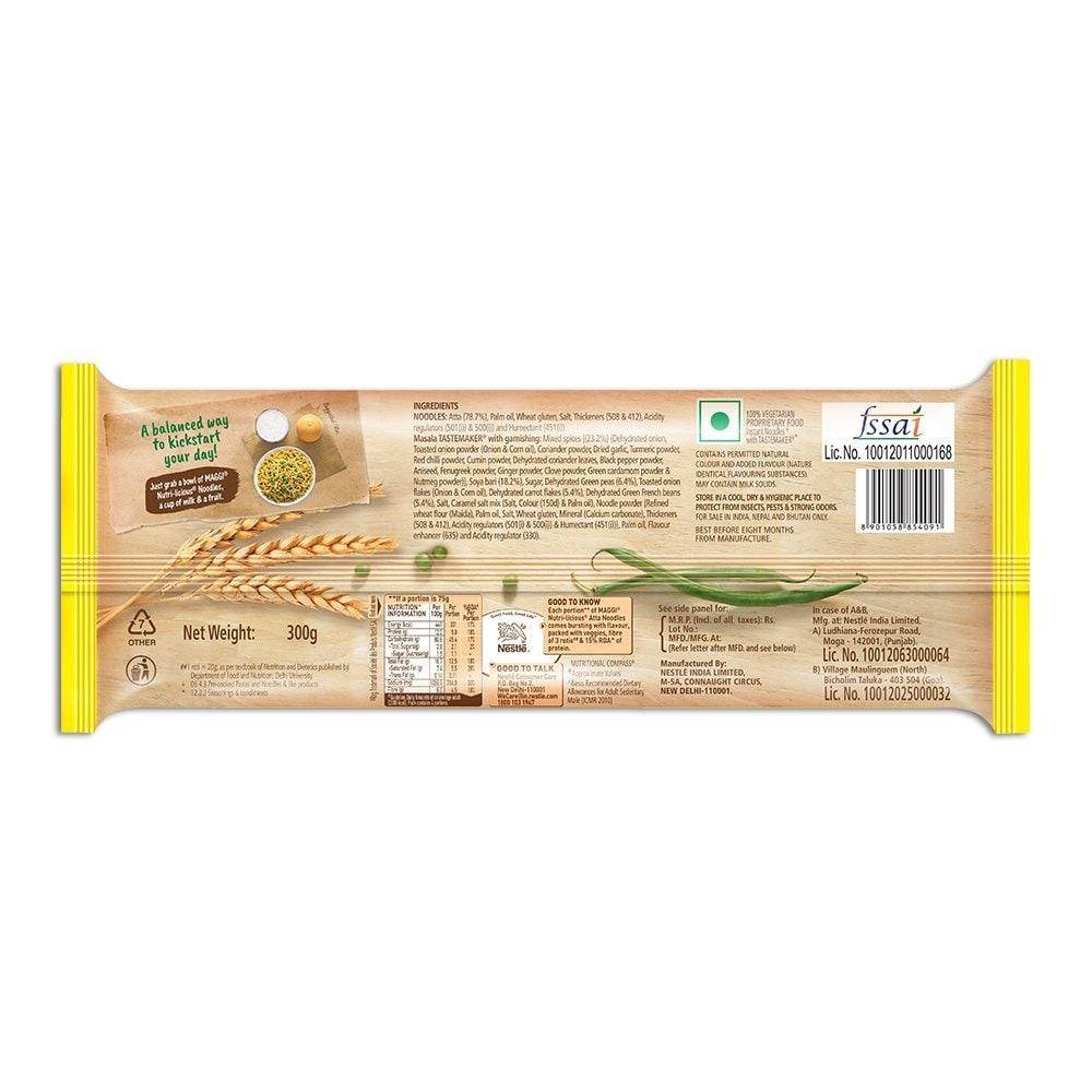 Maggi Nutri-Licious Atta Masala Noodles 300 Gm