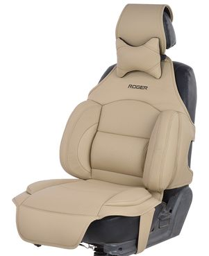 CUSHPORT LEATHER BEIGE (3D SEAT COVER)