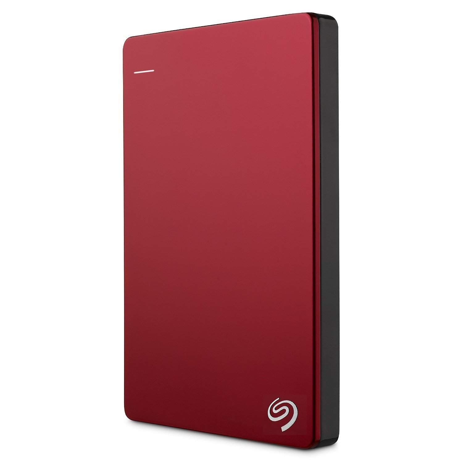 Seagate Backup Plus Slim 1TB Portable External Hard Drive With 200GB Of Cloud Storage & Mobile Device Backup (Red)