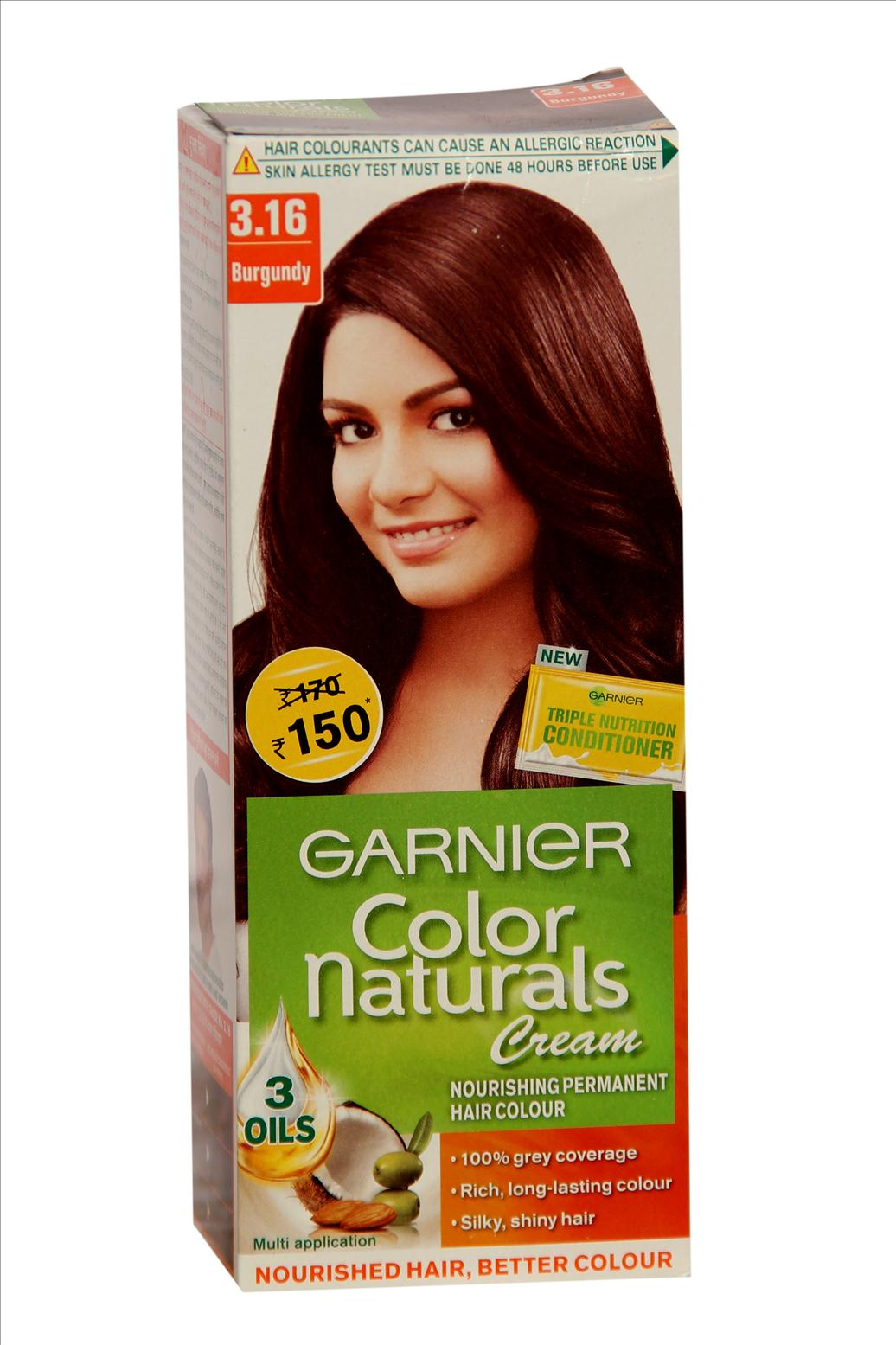 Garnier Color Naturals No.3.16 Burgundy Hair Colour