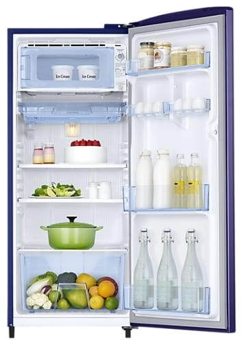 Samsung RR20M172YU7/HL Direct Cool Single Door Refrigerator (192 Litres, 4 Star, Magnolia Blue)