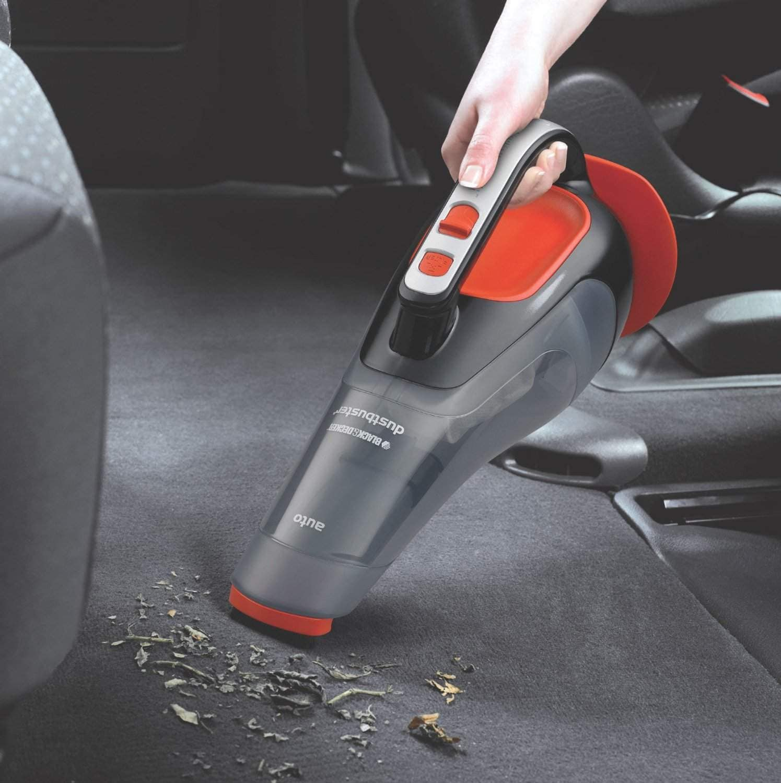 Black & Decker ADV1210 Dustbuster Automatic Car Vacuum Cleaner (Black And Orange)
