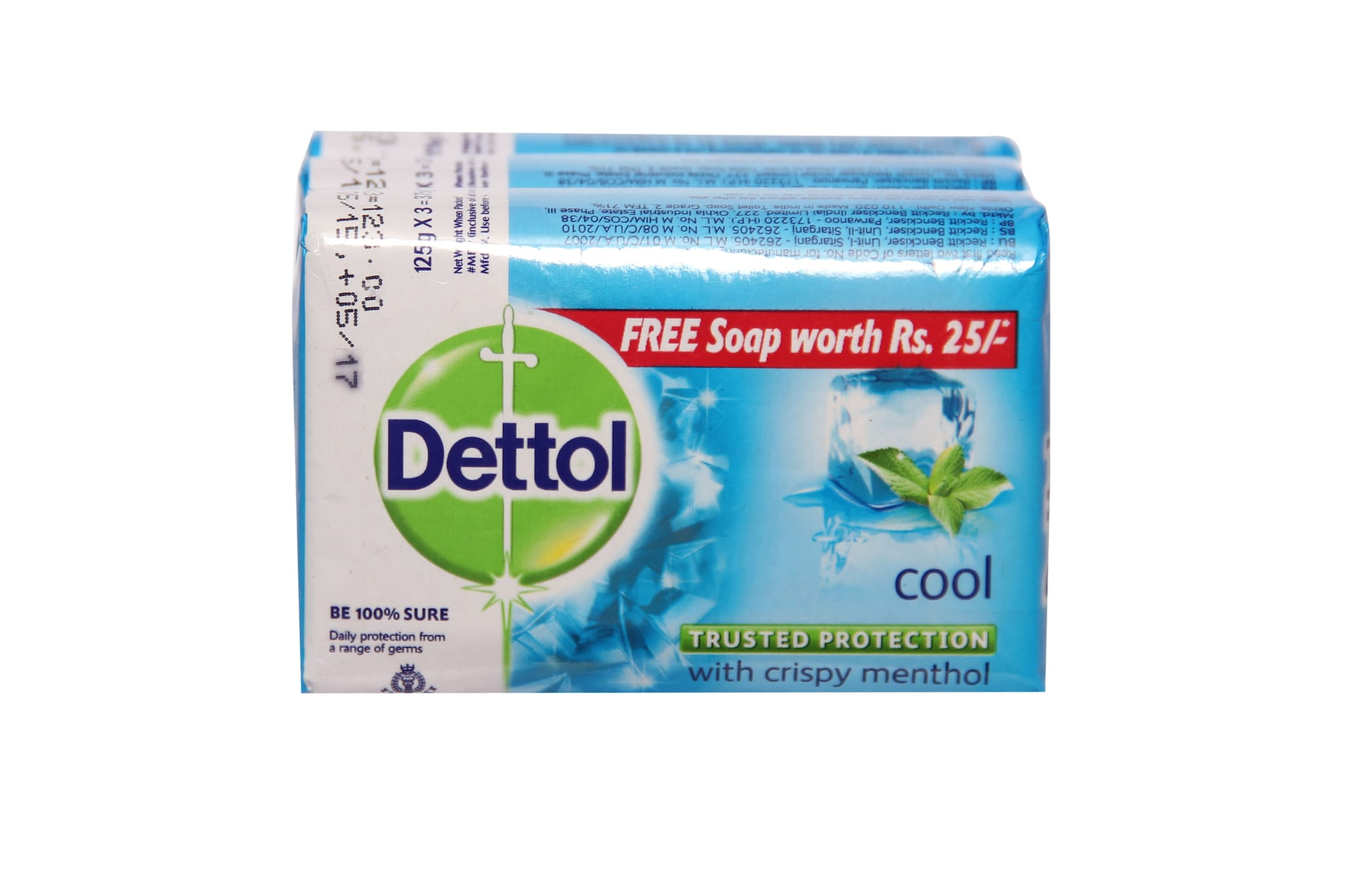 Dettol Cool Soap With Crispy Menthol (Pack Of 3)