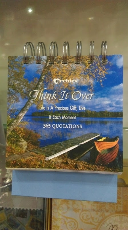 ARCHIES 365 QUOTATIONS [ THINK IT OVER ]