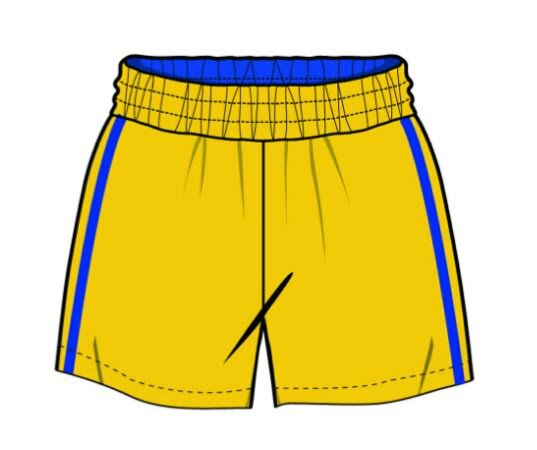 PE Shorts (7, Yellow)