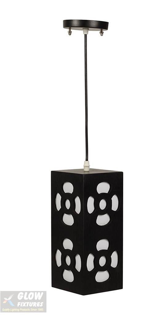 Glow Fixtures Wooden Pendant Light (Black) -- Product Code: HF1690SGD-REG