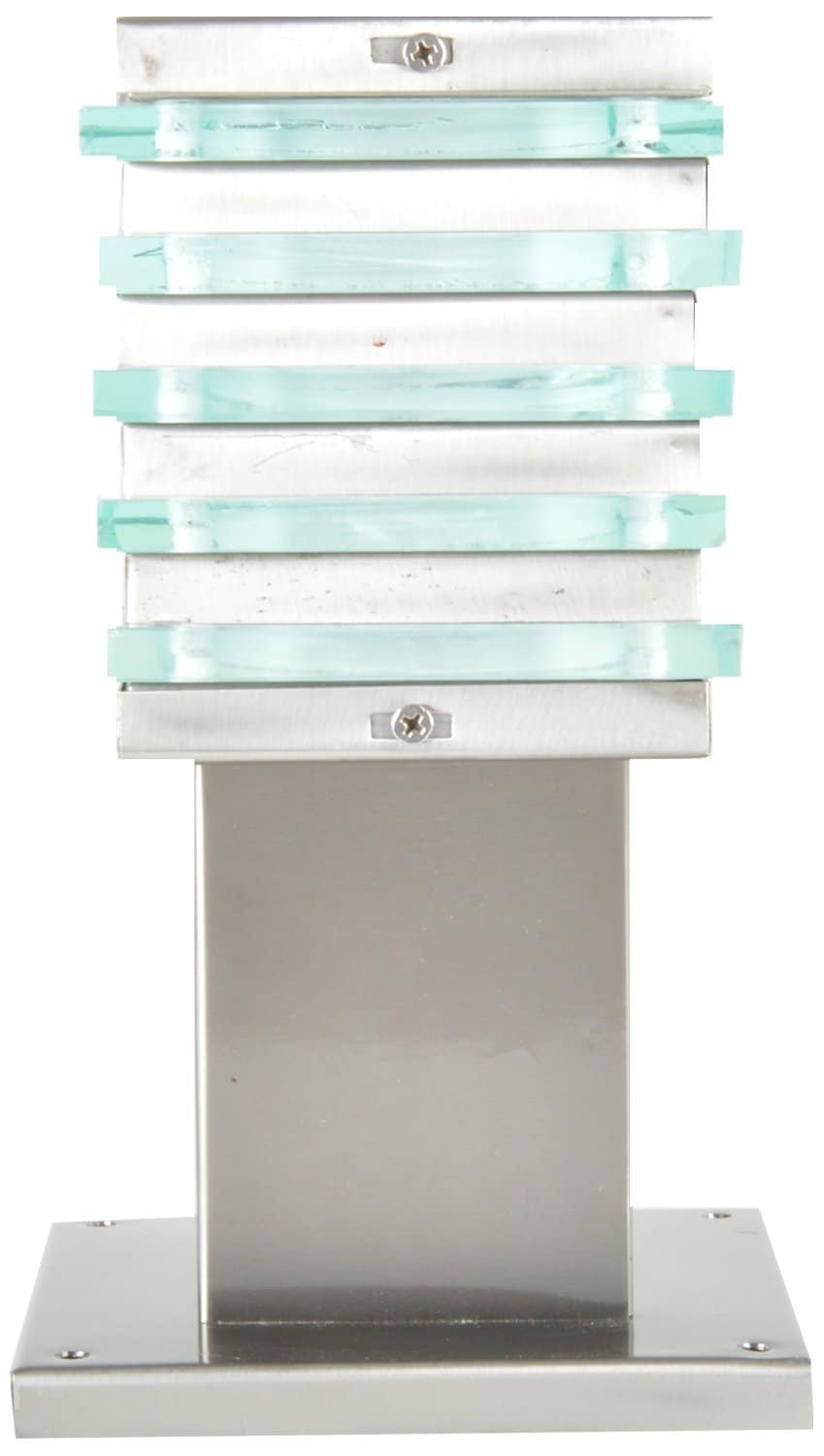 Glow Fixtures Garden Gate Light Fixture Ice Square Stainless Steel 4 -- Product Code: GL612ABD-REG