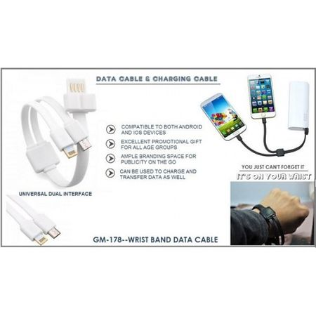 Android IOS Data& Charging Cable With Logo Branding  Bgsnicg178