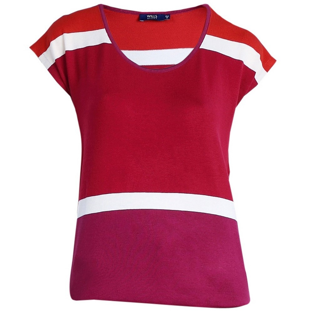 Wills Lifestyle Adriana Top Red