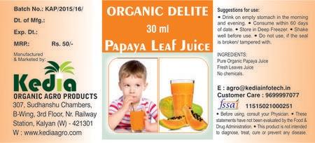 Organic Papaya Leaf Juice