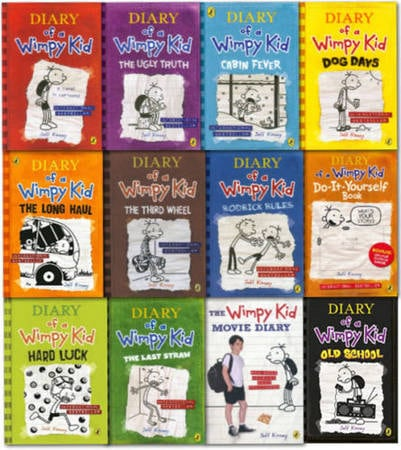 Diary of a wimpy kid collection set of 12 books novels for diary of a wimpy kid collection set of 12 books solutioingenieria Images