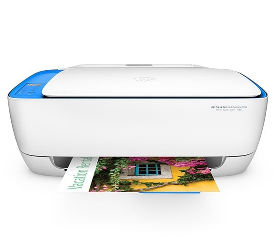 HP DeskJet Ink Advantage 3636 Multi-Function Color Inkjet Printer (White, Blue)