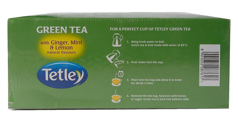 Tetley Ginger Mint & Lemon Green Tea Bags 100 Pc