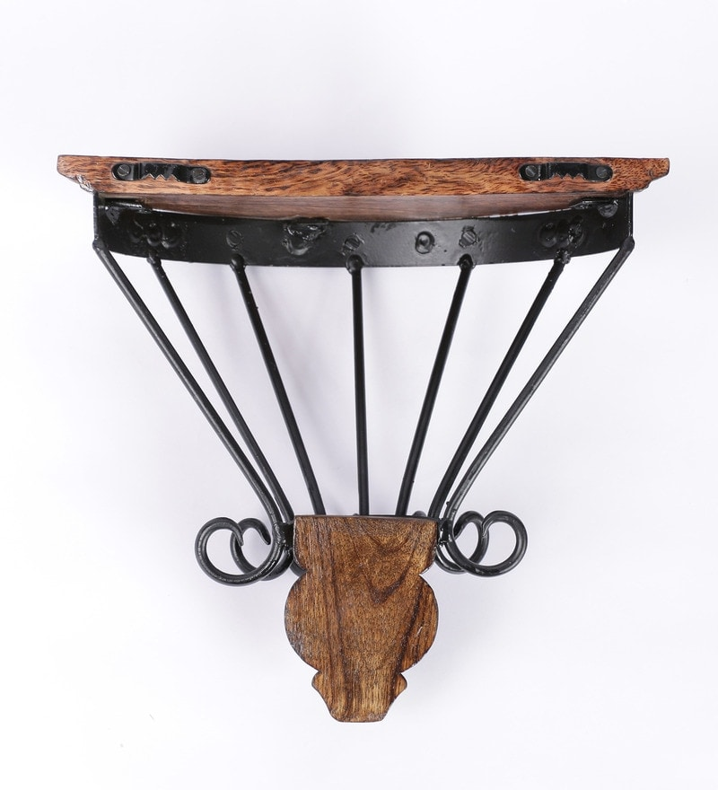 Brown Teakwood Hanging Wall Bracket