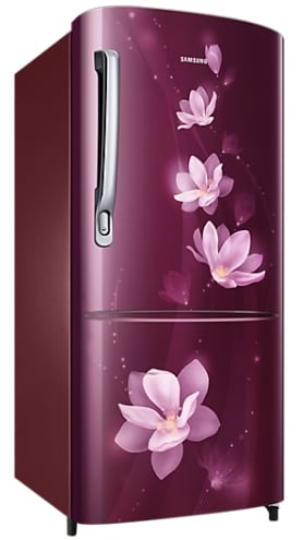 Samsung RR20M272YR7/NL Direct Cool Single Door Refrigerator (192 Litres, 4 Star, Magnolia Plum)