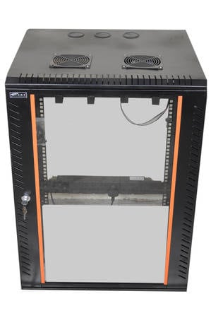EMS 15U 550W X 400D (Black) Side Openable Wall Mount Rack - Side Open Rack  - Parth India