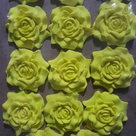 Flat Rose Colorful Sugarcraft