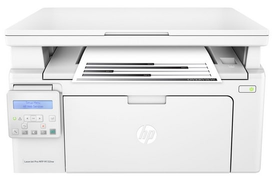 HP G3Q62A LaserJet Pro MFP M132nw Multi-Function Color Laser Printer (White)