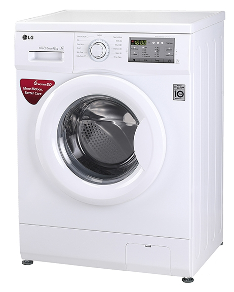 LG 6 Kg Inverter Fully-Automatic Front Loading Washing Machine (FH0H3NDNL02, White)