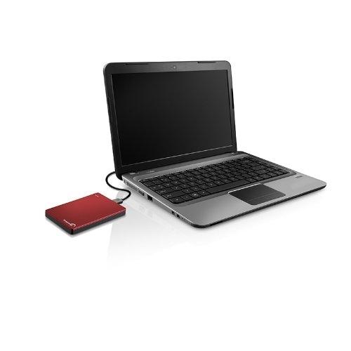 Seagate 2TB Backup Plus Slim Portable Hard Drive Red [STDR2000301]