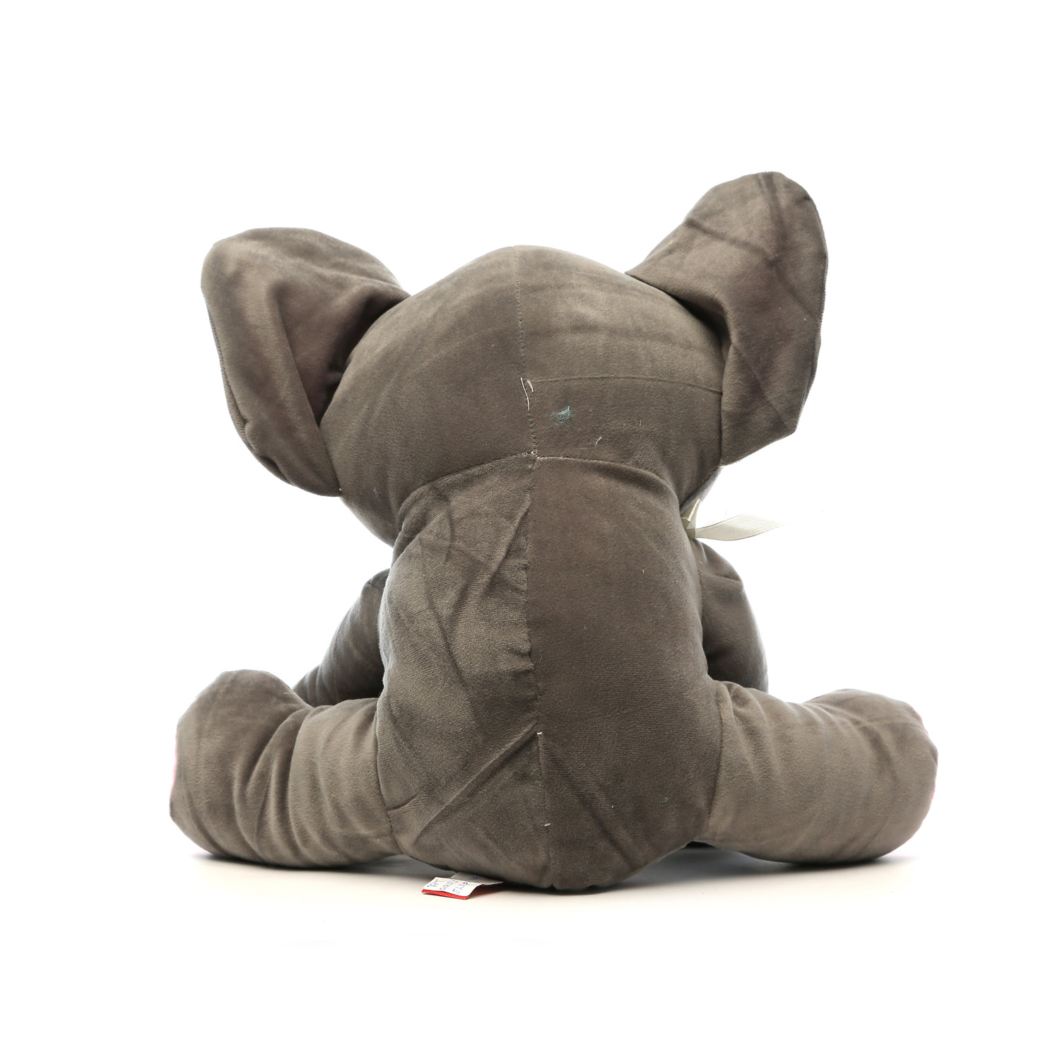 AT-1126-GREY SITTING ELEPHANT 45CM