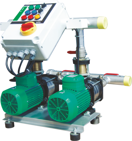 Twin Booster Hydro Pneumatic System, Hor, Make: Wilo