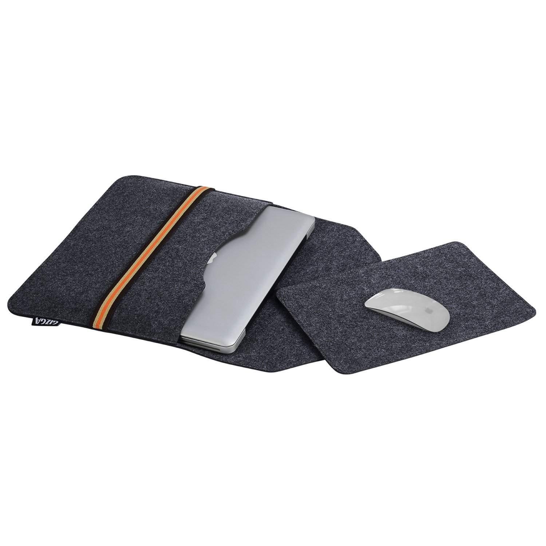 GIZGA 15.6 Inch Protective Felt Laptop Sleeve (Slate Grey)